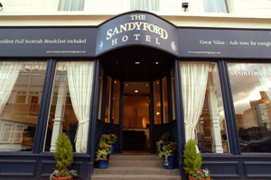 Sandyfor Hotel Entrance